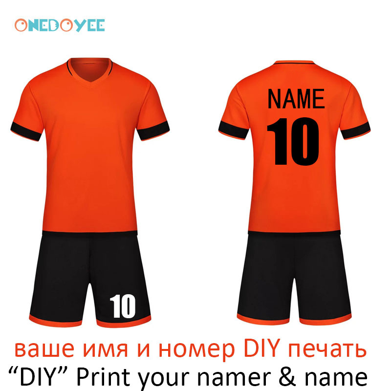 d48c5ae00 ... ONEDOYEE Boys Football Jerseys Soccer Uniform Kids Football Kit  Training Suits Jersey Customize Breathable Children Soccer ...
