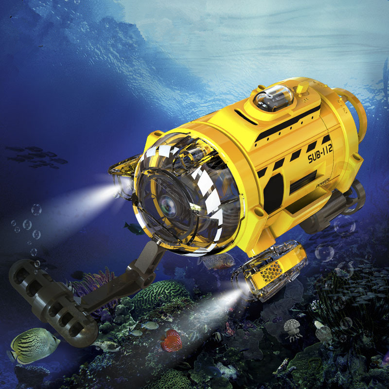 RC mini Submarine with camera Silverlit 6CH rechargeable boat 256M memory to video children's Kid's toys