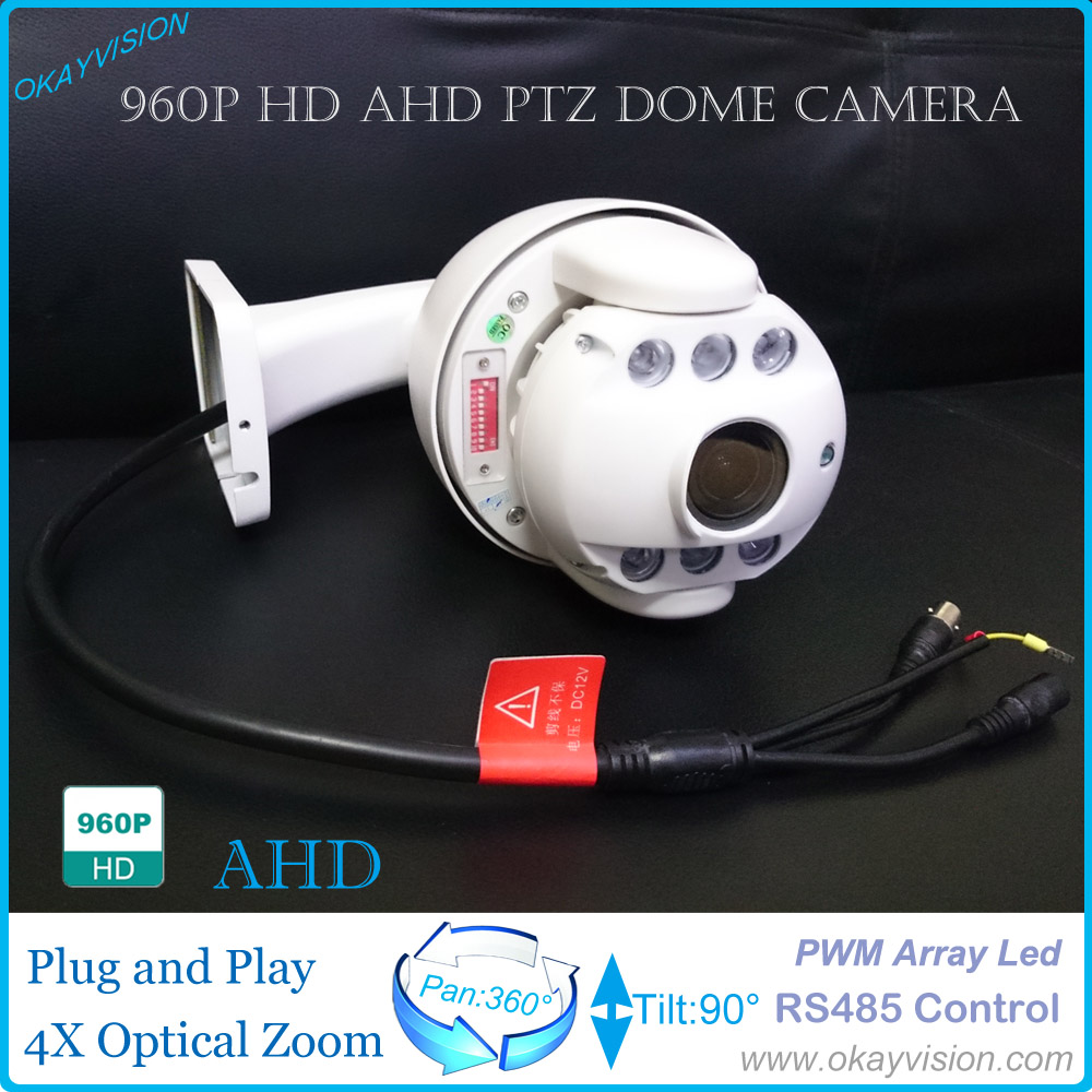 Mini 1.3MP hd 4x optical zoom Weatherproof PTZ Camera Outdoor 960P AHD PTZ Dome Camera with pwm Array Led For Free Shipping new ahd tvi cvi cvbs 1080p mini ir ptz night vision zoom dome camera zoom lens dome camera with 3x optical zoom 2mp motorized