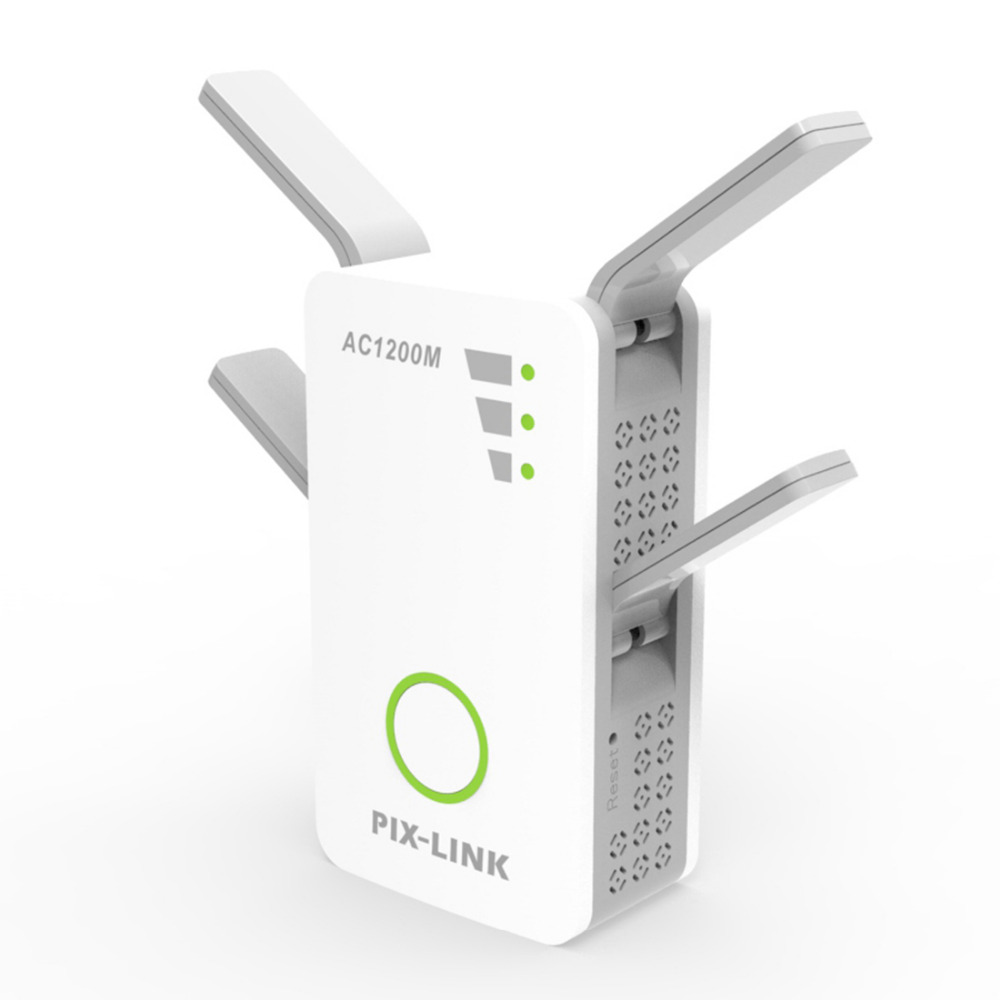 PIXLINK AC1200 2.4GHz 5GHz Dual Band AP Wireless wifi Repeater Range AC Extender Repeater Router WPS With 4 External Antennas totolink ex200 300mbps wireless n easy setup range extender wireless repeater wifi repeater with 2 4dbi external antennas