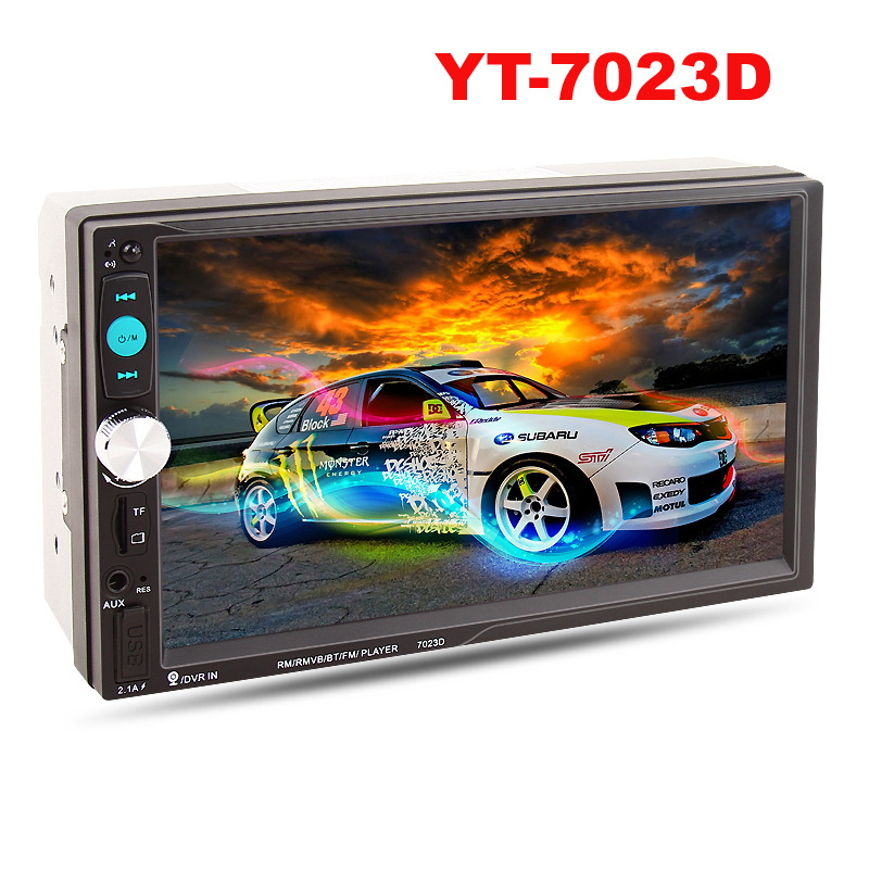 Foval 7023D 2 Din 7inch HD Touch Screen Car Radio MP5 Player With Digital Phone Stereo Radio FM/MP3/MP4/Audio/Video/USB 1din 7inch slip down touch screen universal car stereo fm bluetooth mp3 mp4 audio player manual pull out