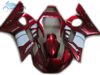 High grade motorcycle body fairing kits for YAMAHA R6 YZFR6 1998 1999 2002 YZF R6 98-02 red white fairings body repair kits EB30