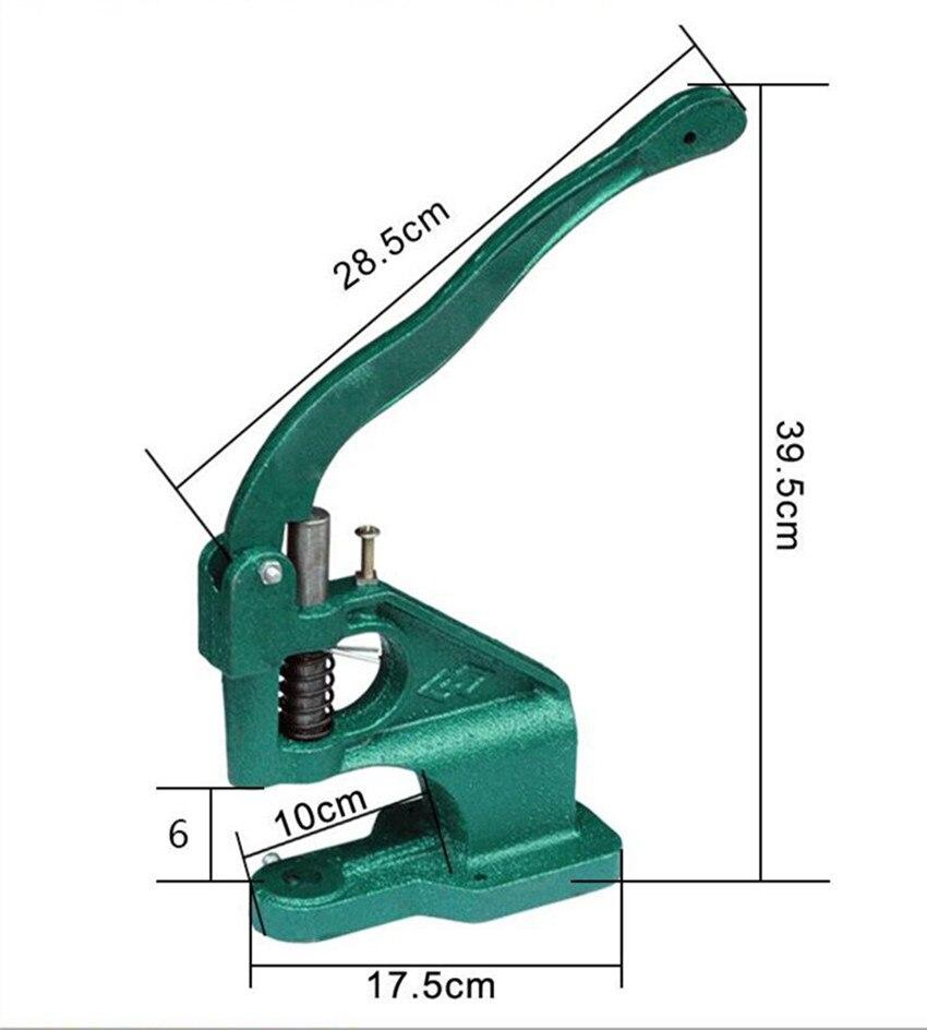 DK93 Machine de presse manuelle à la main goujon Rivet Setter Machine meurt outil main presse œillet Machine à pression pour pour bannière sacs chaussures