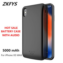 ZKFYS 5000mAh Ultra Thin Fast Charger Power Case Portable Backup Bank For iPhone Xs Max Battery With Audio
