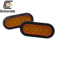 Eonstime 2pcs 12V 24V Turn Signal Lights Sequential Arrow 35 Led Car Trailer Truck Tail Lamp