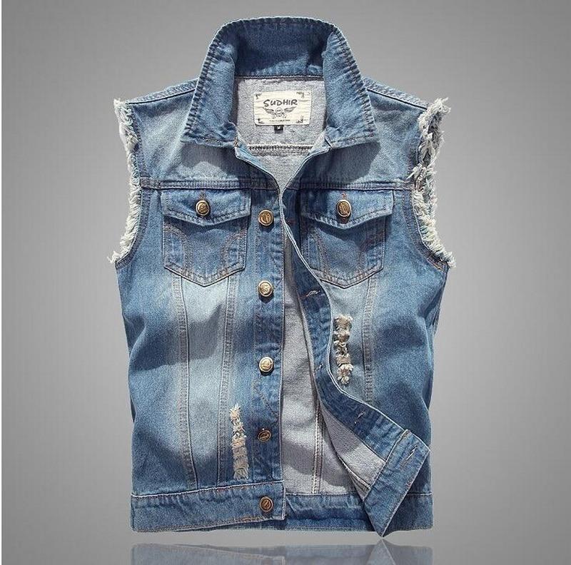 Popular Sleeveless Jeans Jacket for Men-Buy Cheap Sleeveless Jeans ...