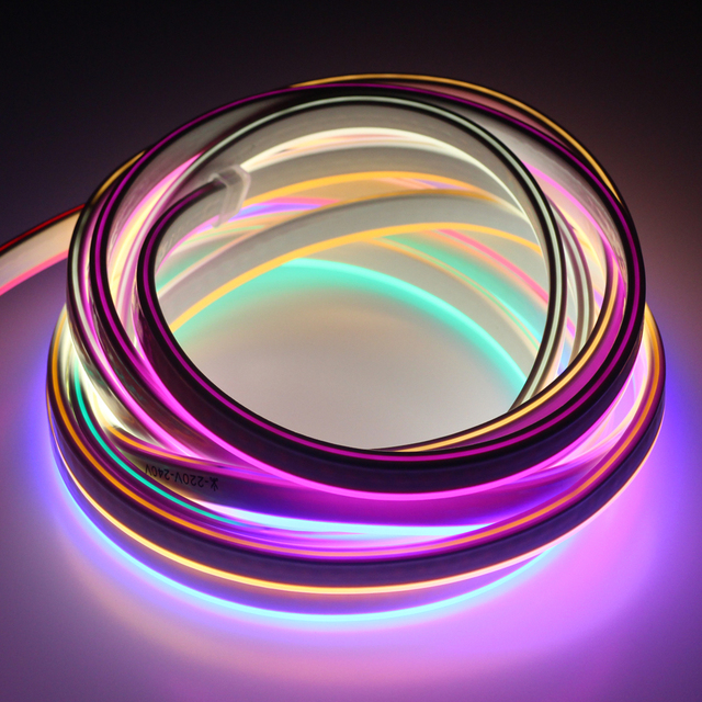 Rgb Couleur Variable  M Flexible Fil Tube Corde Ac  V