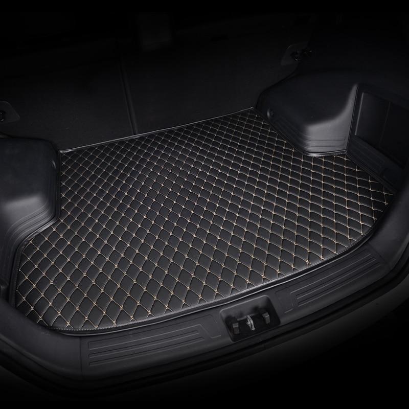 HeXinYan Custom Car Trunk Mats For Skoda All Models Superb Fabia Octavia Rapid Kodiaq Yeti KAROQ KAMIQ Auto Accessories Styling