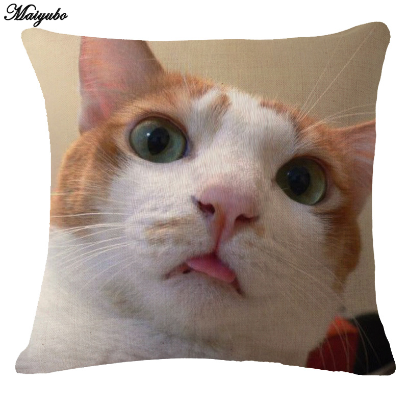 Wholesale Fashion Pillow Covers Cat Baby Pet Cushion Cover for Home Car Decorations Pillowcase Cushion cover Drop Shipping