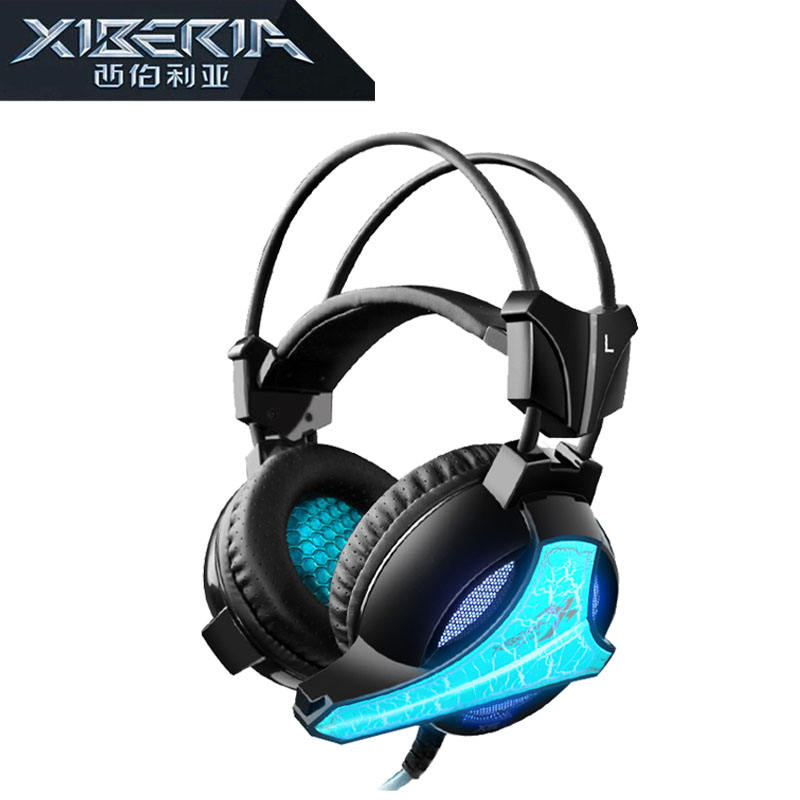 Xiberia X5 PC Gaming Headset Over-ear Stereo Computer Game Headphone Ecouteur With Microphone USB LED Earpiece for PC Gamer original xiberia v5 usb wired gaming headphone super bass stereo headset microphone over ear noise lsolating pc gamer headphones