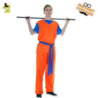 Men's Goku Costume Funny Dress Up Monkey Christmas Party Masquerade Kufu Clothes Cosplay Goku For Adults