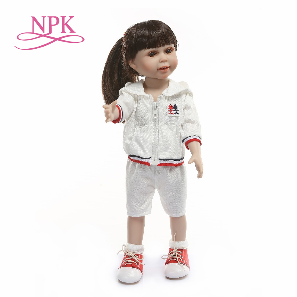 NPK 45cm new design beautifu girl doll full silicone vinyl girls birthday gift toys playmete reborn bonecas NPK 45cm new design beautifu girl doll full silicone vinyl girls birthday gift toys playmete reborn bonecas