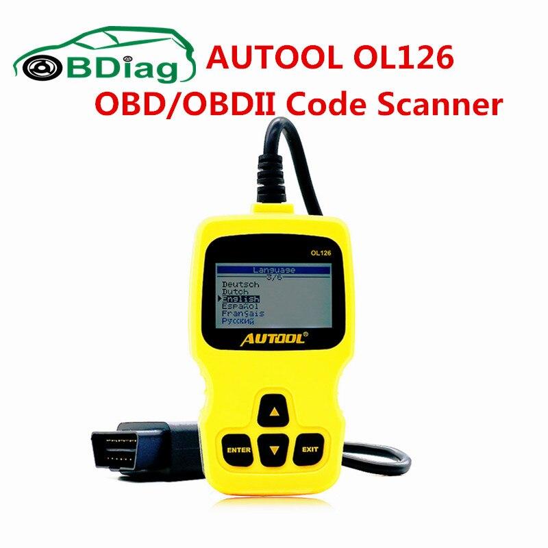 Цена за Autool OL126 OBD/EOBD Moteur код неисправности сканера OL126 автоматический диагностический инструмент OBD/OBD2 код читателя бесплатная Доставка
