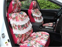 2016 Auto Supply 5 Pcs Set Four Season Women Car Seat Cover Cushion Girls Lace Lovely