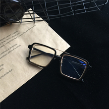 Blue light blocking glasses For Women Men Anti blue Big Square Frame Retro Double beam Computer Eyeglasses D5
