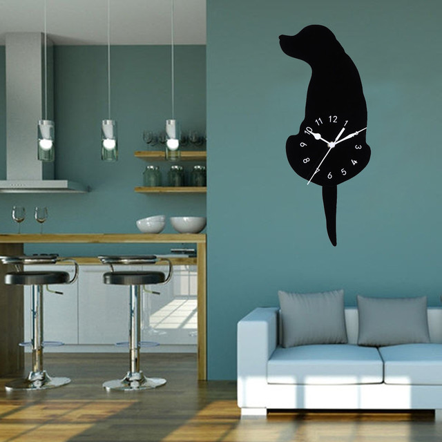 brixini.com - Cartoon Dog Wall Clocks