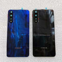 New 3D Tempered Glass Back Cover For Huawei Honor 20 Spare Parts Back Battery Cover Door Housing + Flash cover + camera lens