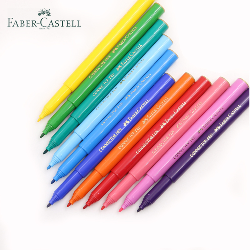 Faber Castell 30 Colors Cute Creative Colorful Crayons Connector Watercolor Gel Pen For Drawing Art Stationery Supplies