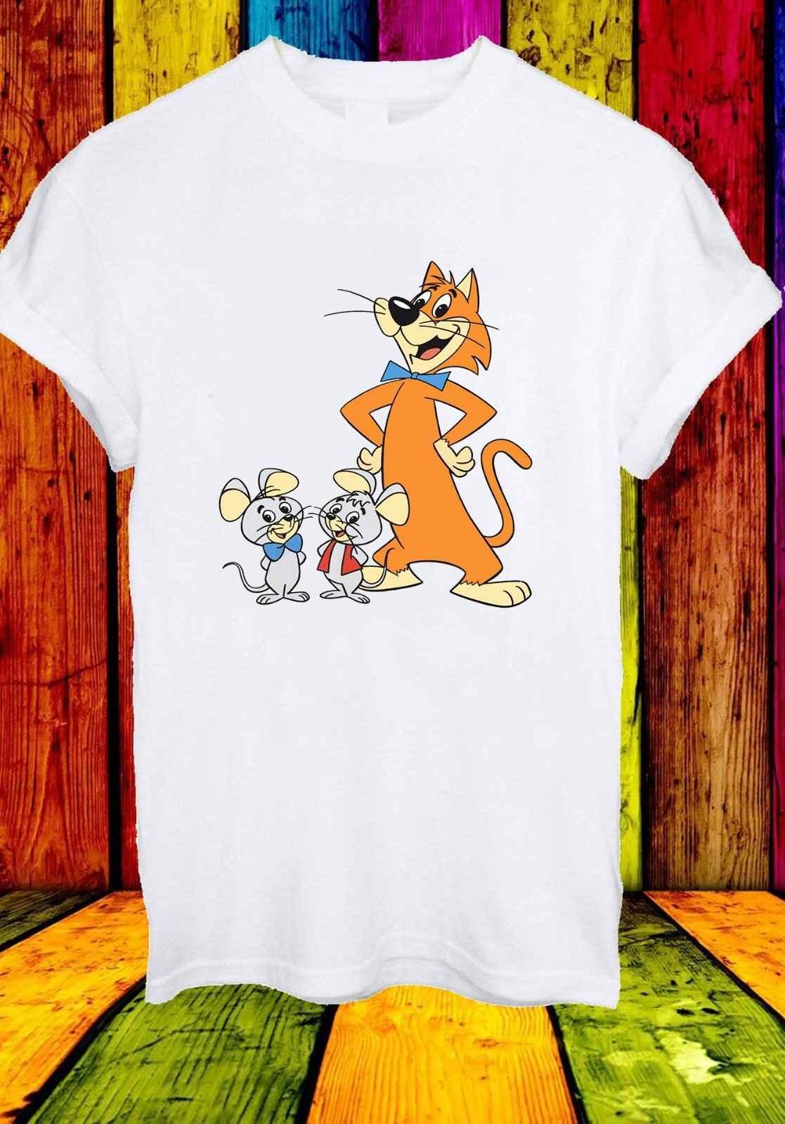 Pixie и Dixie и Mr Jinks мышки для котов Забавный Мультфильм Мужчины Женщины унисекс футболка 838 Новые футболки Забавные топы Бесплатная доставка