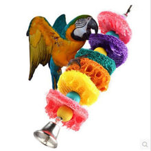 Pet Bird Parrot Parakeet Budgie Cockatiel Cage Hammock Swing Toy Hanging Toy Chew Toy