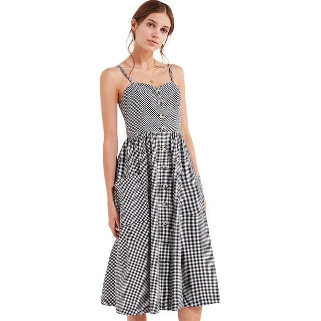Button Dresses