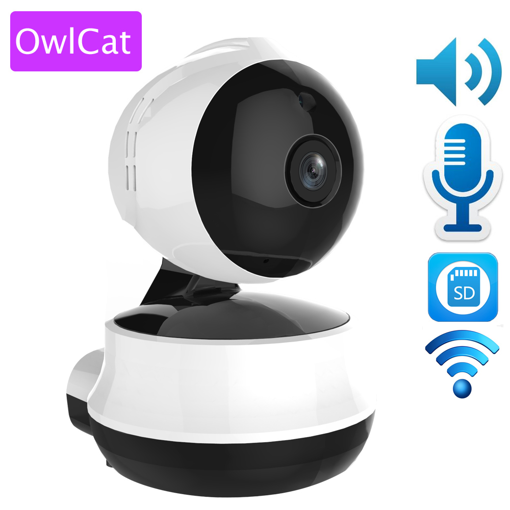 Owlcat 1.0 MegaPixels CMOS Wifi IP Dome Camera wireless Indoor H.264 720P Pan Tilt SD Card Two-way audio Night vision Motion neo coolcam hd 720p megapixel dome ip camera wifi pan tilt rotate p2p wireless support sd card ir night vision two way audio