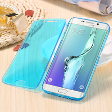 For Samsung S6 Cases Fashion Ultra Flip Soft TPU Gel Case For Samsung Galaxy S6 Edge Plus Slim Full Crystal Clear Cover S7 Edge