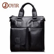 JOYIR 2019 Genuine Leather Men Briefcase Retro Crossbody Shoulder Bags Men's Messenger Bags Briefcase Fashion Male Handbag цены