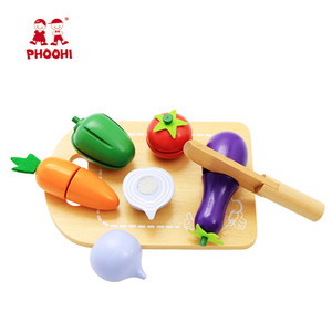 Image 3 - Kids Wooden Cutting Vegetable Toy Children Pretend Kitchen Food Play Toy For Toddler PHOOHI