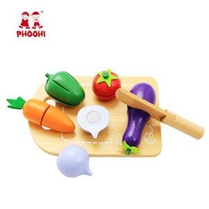 Image 3 - เด็กตัดผักของเล่นเด็ก Pretend Play ของเล่นเด็กวัยหัดเดิน PHOOHI