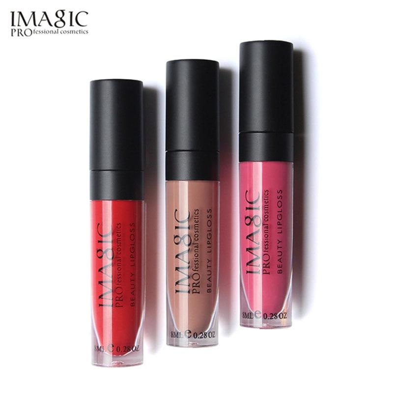 IMAGIC Matte Lip Gloss 12 Χρώματα Χείλος Λάμψης Υγρό Κραγιόν Αδιάβροχο Μακράς Διαρκείας Ενυδατικό Λιπομόνι MakeupCosmetics lip