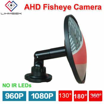 Lihmsek Smart Security Mini Mirror Fisheye Camera AHD 1080P 960P Vandalproof Dome CCTV Camera HD 2MP Wide Angle Lens 130 180 360 - DISCOUNT ITEM  19% OFF Security & Protection