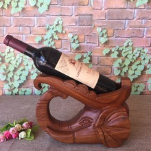 Wooden carving elephant red wine rack, animal red wine rack, home decorations crafts