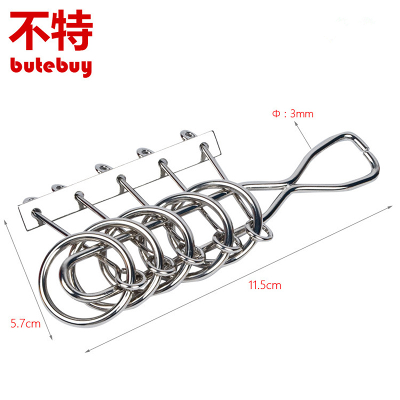 Tuba 5 interlocking Metal Wire Puzzle IQ Mind Brain Teaser Puzzles Game For Adults And Kids Eeducational Toy
