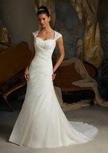 S Robe De Mariage 2015 Sexy White Organza Wedding Dress Sheath Vestidos Novias Elegant Beaded Lace Bridal Dresses Sweep Train