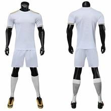 19/20 blank men's football T-shirt children's sports club jersey short-sleeved shorts custom football training clothes