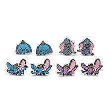 DMLSKY Dumbo Elephant Stud Earrings Cartoon Jewelry Prevent allergy Earring Pendant for Kids Girls Cute Gift M3381