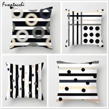 Fuwatacchi Geometric Style Cushion Cover Endless Wave Printed Pillow StripeThrow Decorative Pillows for Sofa Car