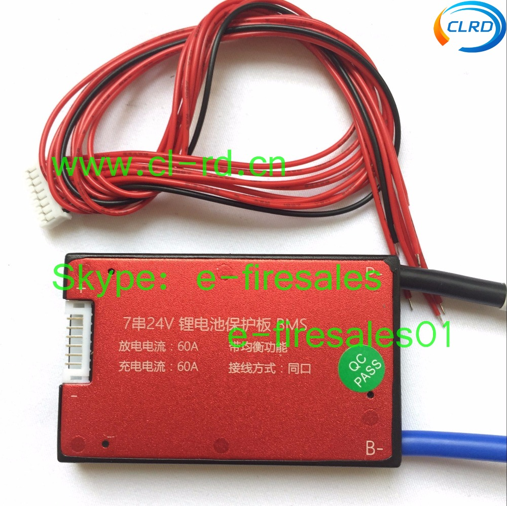 10pcs Lot Lithium Ion 24v Electric Bike Battery Bms 7s 60a Circuit Electrical Wiring Board With Common Port For Charge And Discharge In Packs From Consumer