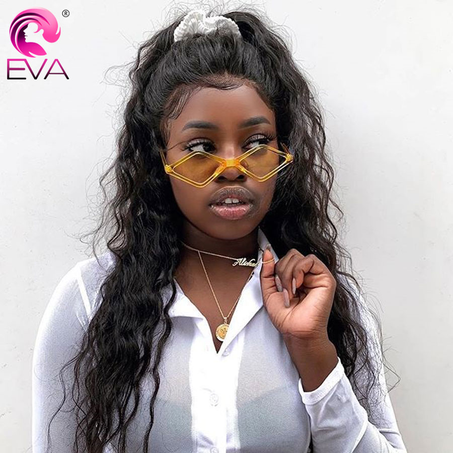 Eva Hair 180% Density 360 Lace Frontal Wigs For Women Lace Front Human Hair Wigs Pre Plucked With Baby Hair Brazilian Remy Hair