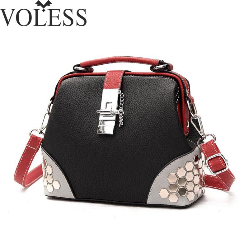 Luxury Handbags Women Bags Designer Rivet Pu Leather Handbags Crossbody Bags For Women High Quality Messenger Bag Totes
