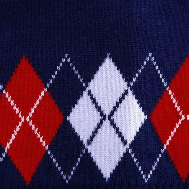 Autumn/Spring Casual Kids Boys Girls Outerwear Sweater Vest Argyle V Neck Sleeveless Pullover Knit School Waistcoat 2-7T 4