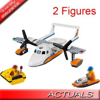 153pcs Lepin 02066 City Coast Guard Sea Rescue Plane Remain Building Blocks Figure Model Bricks Toy Compatible With Lego 60164