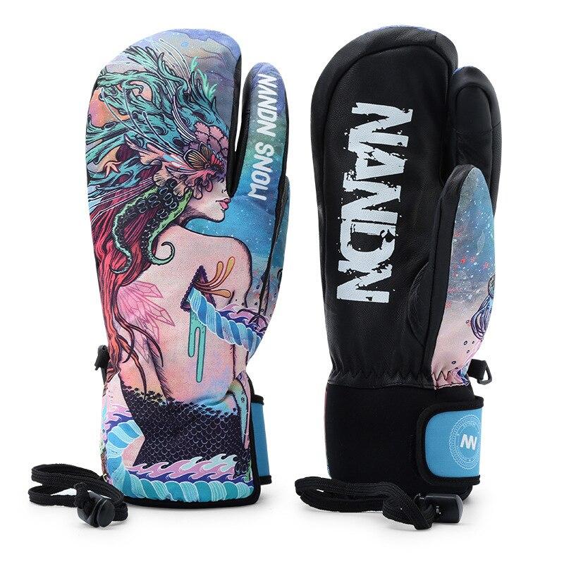 Gants de Ski hommes femmes chaud hiver imperméable Ski Snowboard gants motoneige équitation moto extérieur neige gants