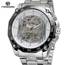 New! Automatic Watch  Forsining Watches FSG8068M4T4 mens watches top brand luxury silver color bracelet free shipping
