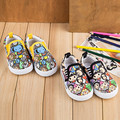 Novas Crianças Outono Lona Sapatos Meninas Respirável Crianças Sapatilhas Sapatos de Bebê Primeira Walker Primavera Dos Desenhos Animados de Algodão Da Criança Sapatos Meninos