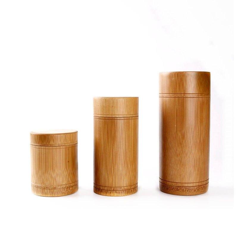 Handmade bambusa Zbiornik na herbatę przyprawy Caddy pudełko do przechowywania organizator butelka zestaw do herbaty Box akcesoria kuchenne uszczelka pokrywa słoik 1 sztuka