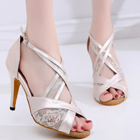 Coupons for Discounts Free Shipping Ivory Sneakers Ballroom Shoes for Women Black Dance Shoes