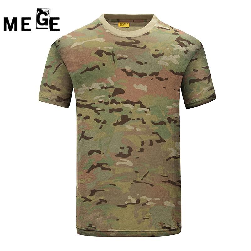 Camiseta de algodón de verano MEGE, camisetas deportivas de caza de - Camping y senderismo