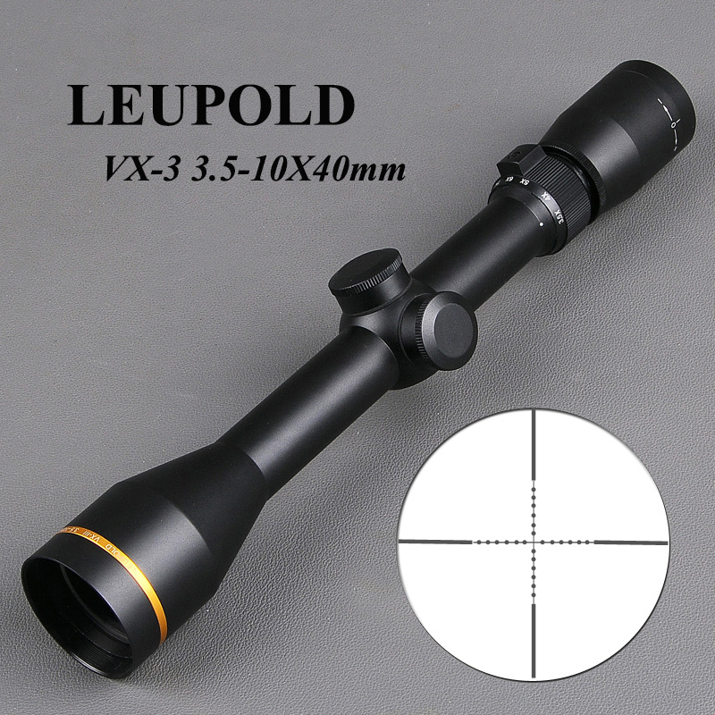LEUPOLD VX-3 3.5-10X40mm Riflescope Glass Reticle Tactical Rifle Scope Hunting Scopes Sniper Gear Airsoft Air Guns kandar 6 18x56q front tactical riflescope big objective with glass plate riflescope military equipment for hunting scopes